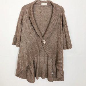 EUC Laurie B open front chunky cable knit cardigan